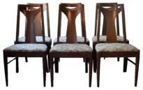 set of 6 broyhill saga dining chairs