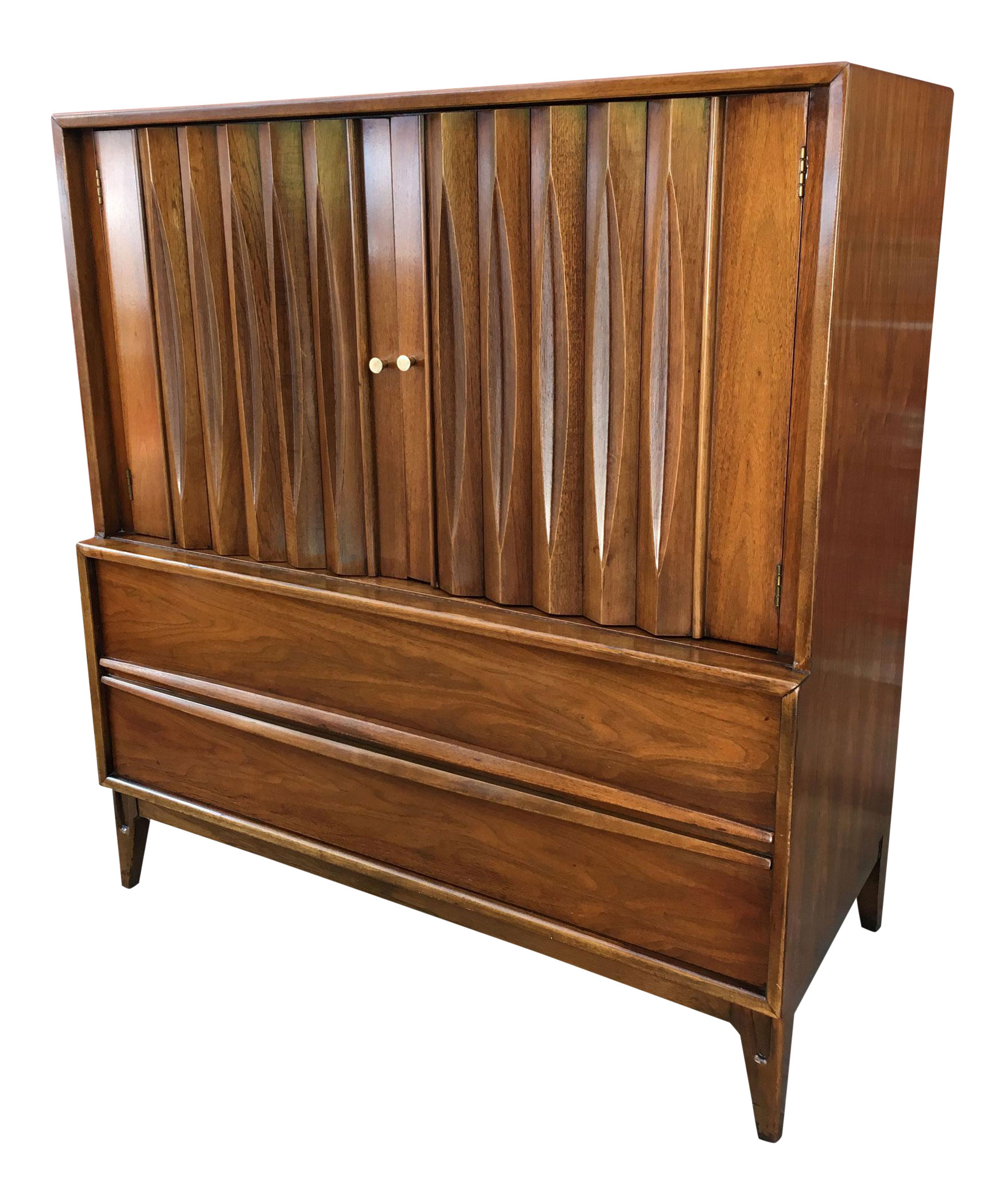 Mid Century Modern Sculpted Walnut Gentleman S Chest