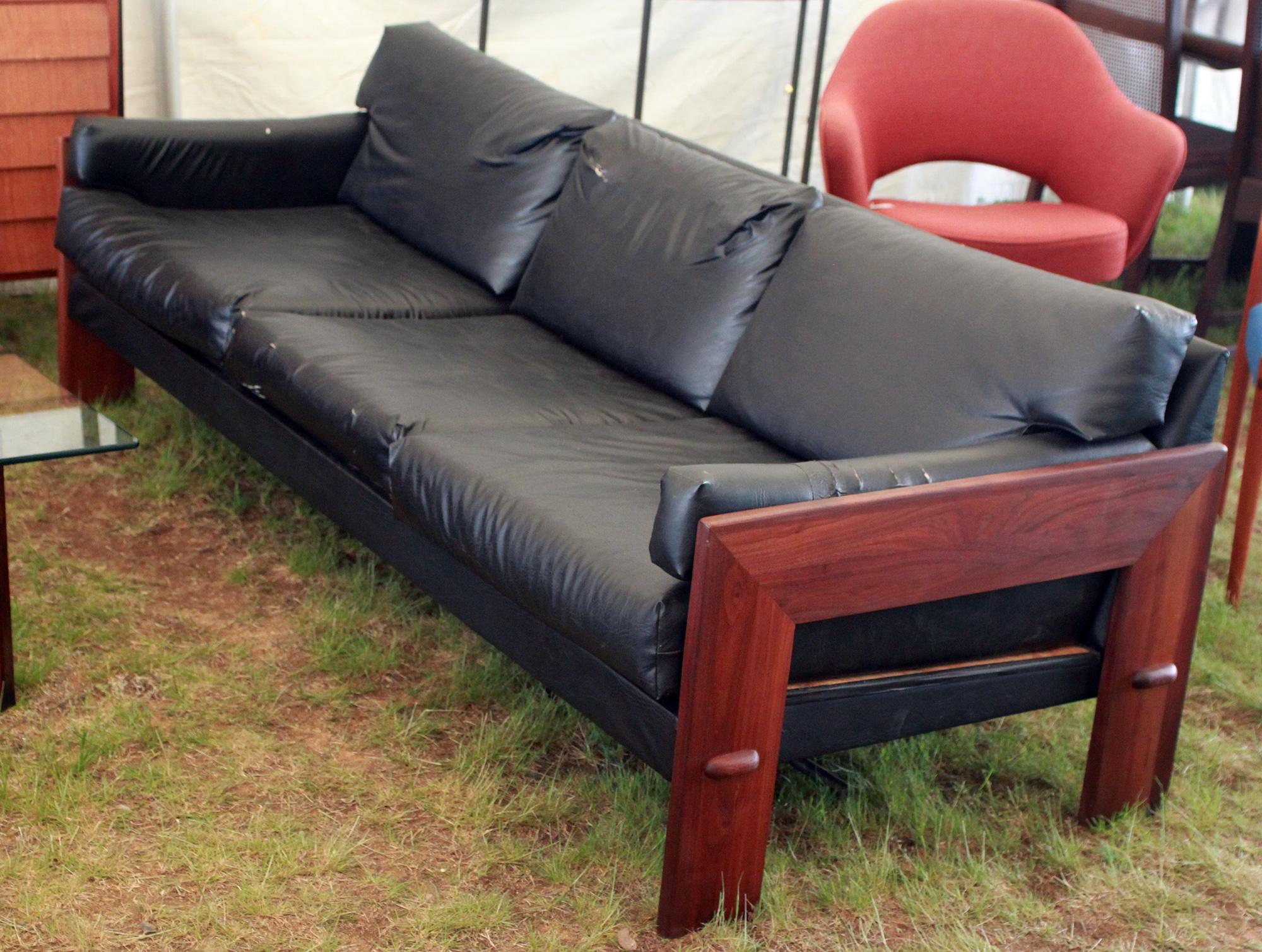 Adrian Pearsall Mid Century Modern Walnut Sofa – Atomic Flat