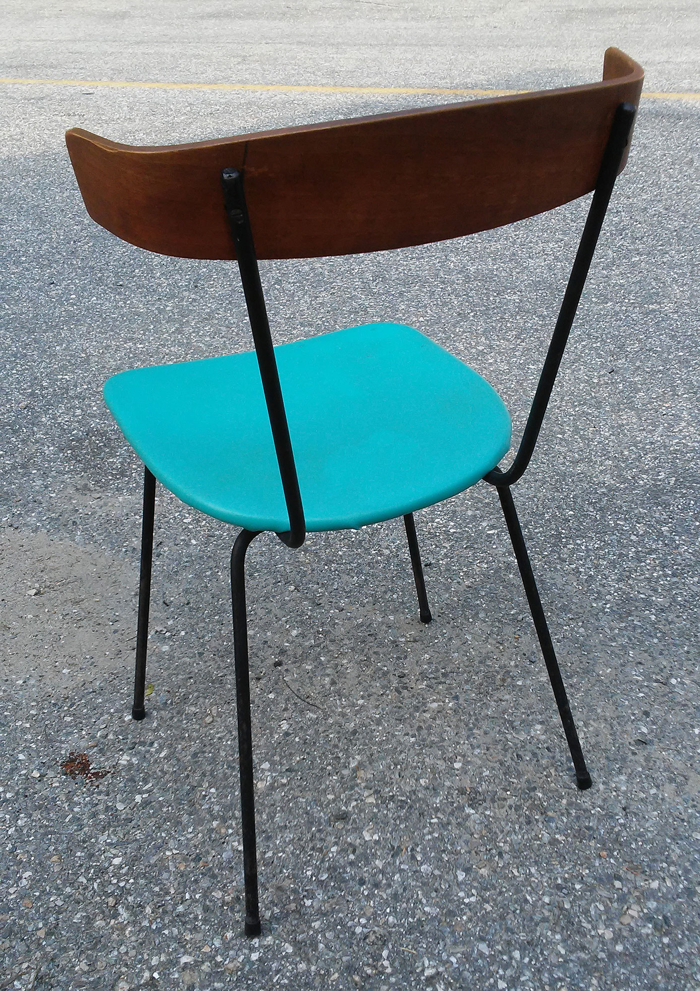 vintage clifford pascoe mid century modern bent wood side chair